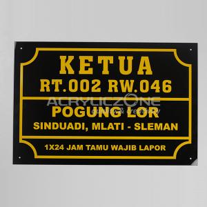 PN07 Papan Nama Kertua RT 002 Pogung Lor