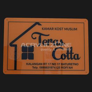 PN08 Papan Nama Kamar Kost Muslim Teras Cotta