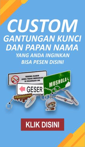 Banner Custom Gantungan Kunci