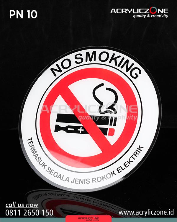 Papan Nama No Smoking